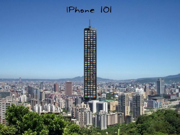 iPhone 101 photoshop of Taipei 101 skyscraper.