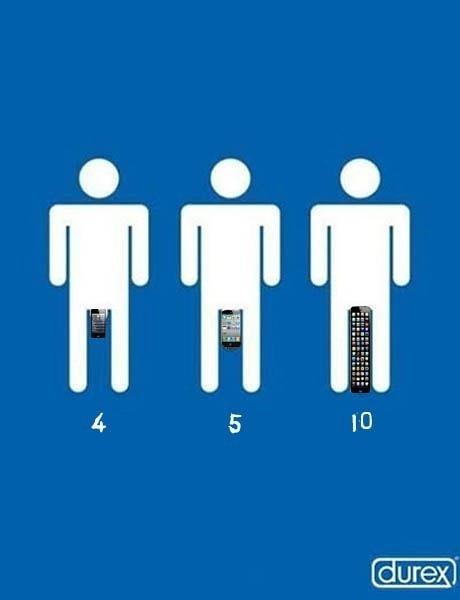 iPhone 4, 5, 10 by Durex.