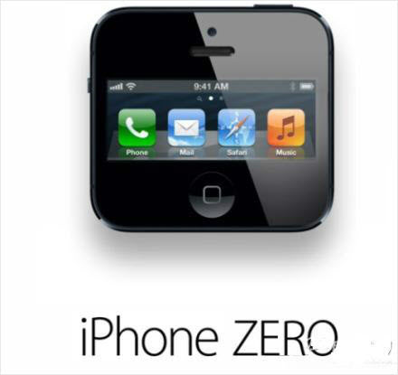 iPhone ZERO photoshop.