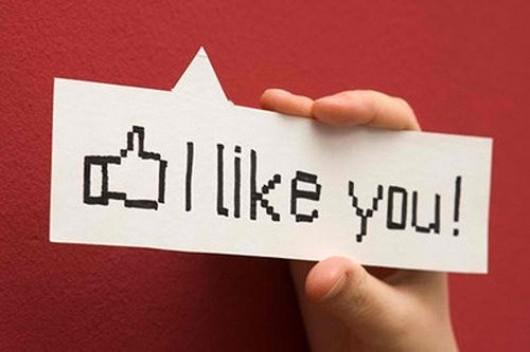 a sign says 'I like you'