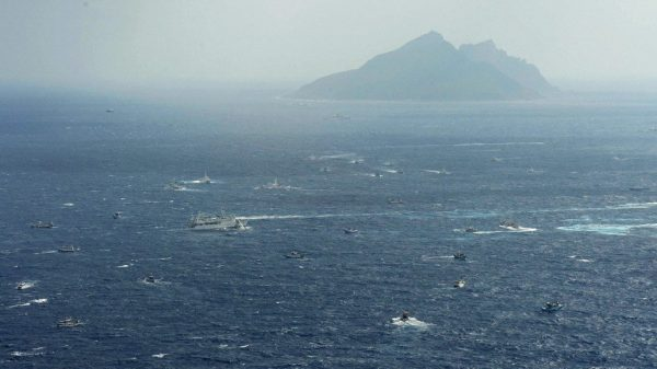 Japanese and Taiwanese Coast Guard ships using water cannons as Taiwan fishing boats sail to the Diaoyu Islands (aka Senkaku Islands) to protest Japan's recent purchase nationalizing the internationally disputed territory.