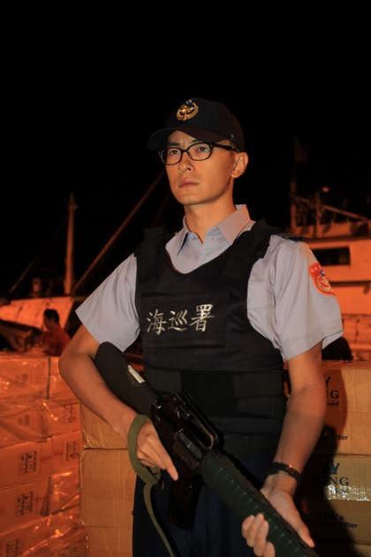 Actor Joseph Cheng serving compulsory military service in Taiwan.