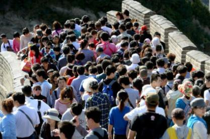 crowds at tourist sites during the national day holiday 05
