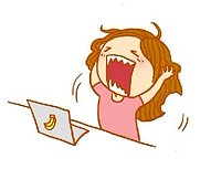 crying girl in front of a laptop