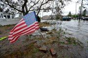 Hurricane Sandy flooding on the east coast of the United States.