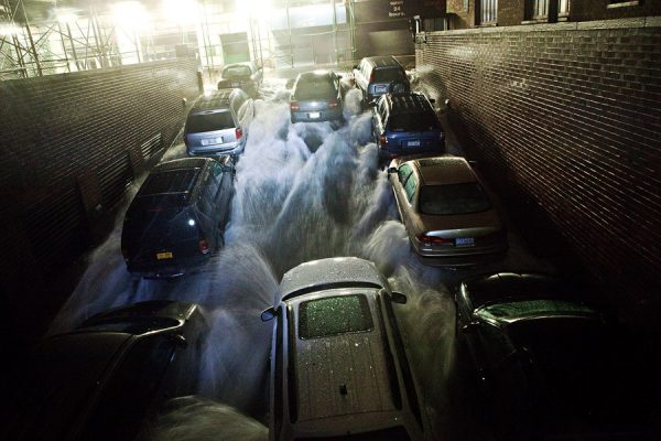 Hurricane Sandy flooding on the east coast of the United States.