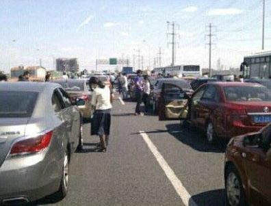 national day traffic jam
