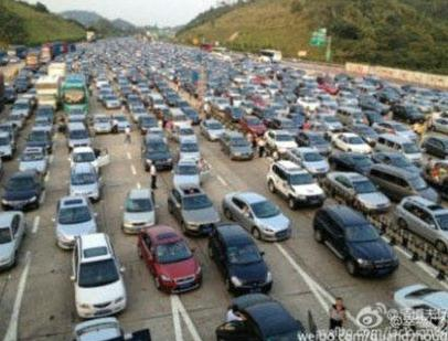 traffic jams during national day holiday