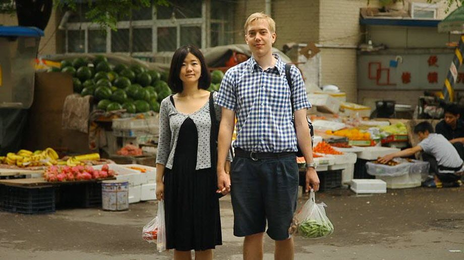 Intercultural couple: Chinese Fufu and Danish Chris.