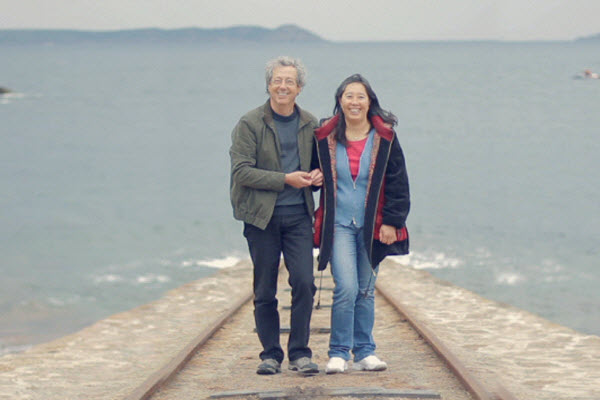 Intercultural couple: Michel from France and Qi from Beijing, China.