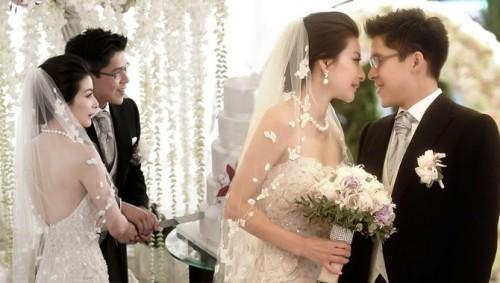 Guo Jingjing and Huo Qigang wedding photo