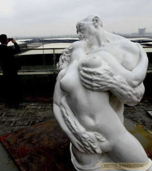Man sex with sculpture picture
