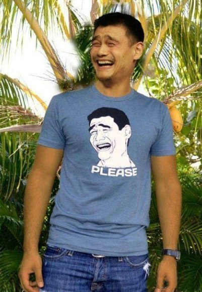 Yao Ming's smile