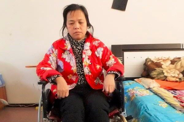 Chen Qingxia is paralyzed from the waist down.