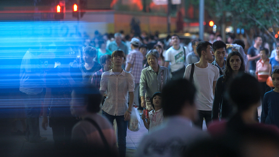 Chinese people on the street.