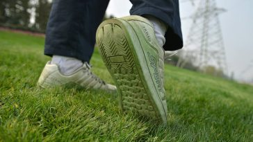 Soles Stained Green By Grass Paint