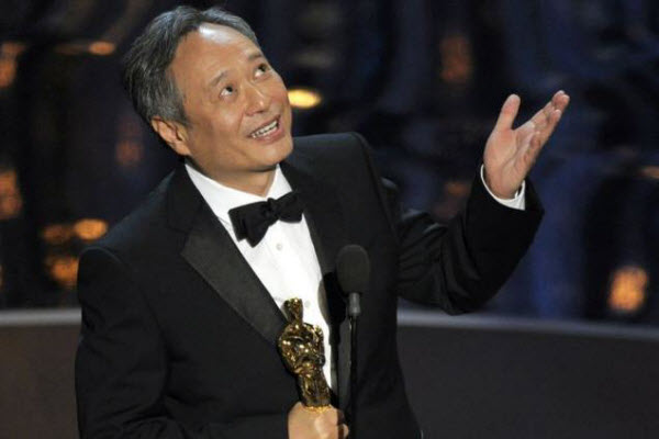 Chinese director Ang Lee during his Best Director Oscar acceptance speech.