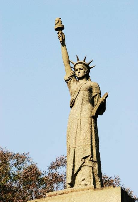 The new statue is based on the one in New York with slight modifications