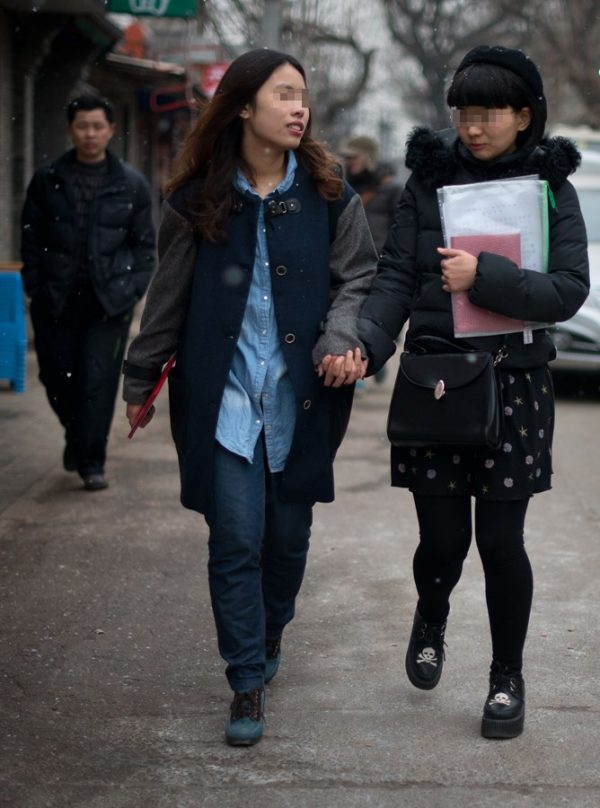 Elsie and Mayu are leaving Dongcheng District Social Service Center.