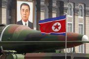 North Korean missles on display.