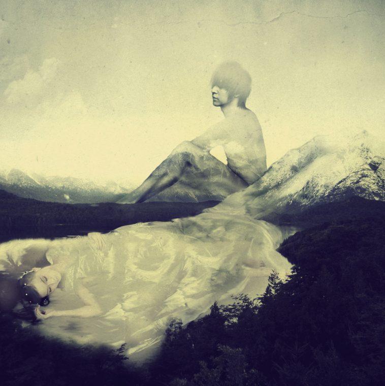 """Lake and Mountain"" by Anabele Ruiz."
