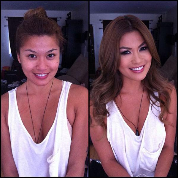 Труженицы взрослого кино до и после макияжа porn_stars_before_and