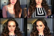 Tori Black, porn actress, before and after makeup comparison photo.
