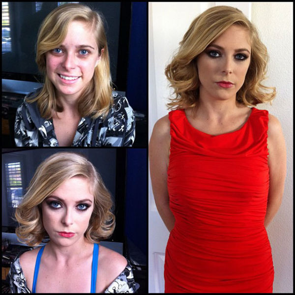 Penny Pax Porn Actress Before And After Makeup Comparison Photo