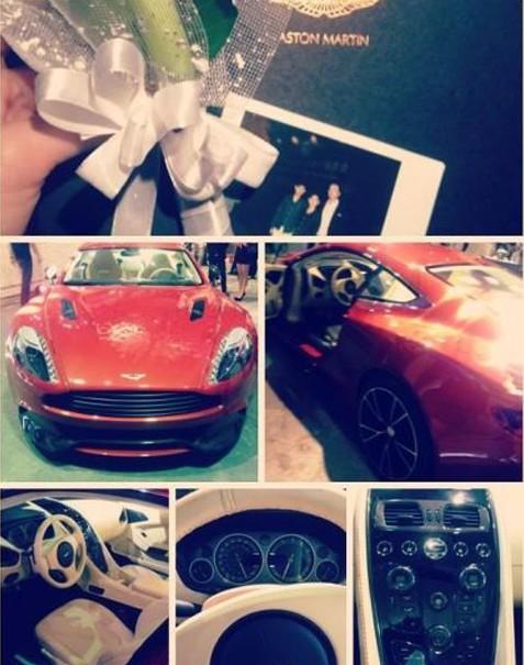 Zhou Jiale's Aston Martin.