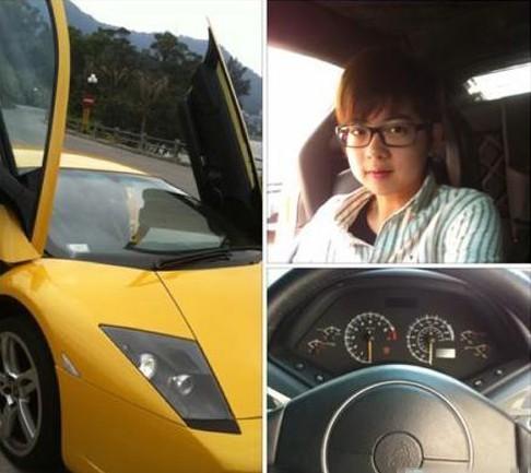 Zhang Jiale's Lamborghini.