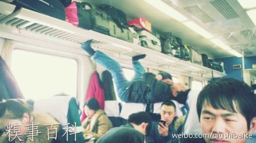Sleeping in the train