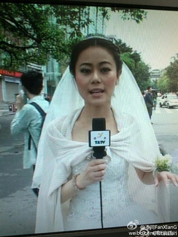 chinese-reporter-chen-ying-reports-on-sichuan-earthquake-in-wedding-gown