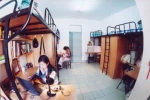 Chinese university dorm