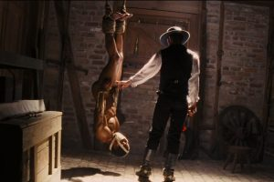 A scene from Django Unchained.