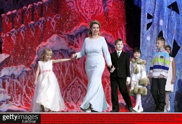 Russia's Svetlana Medvedeva with children.