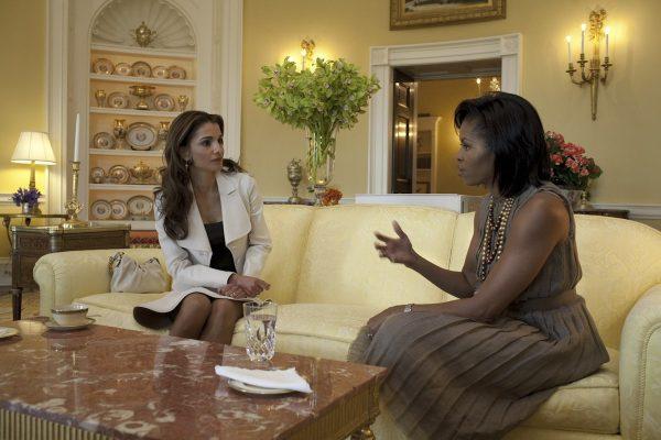 Jordan's Rania Al-Abdullah and USA's Michelle Obama.