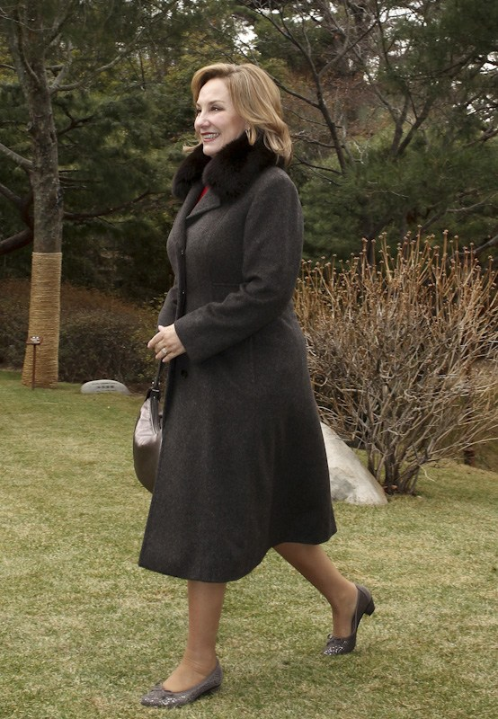 South Korea's Kim Yoon-ok and Chile's First Lady.
