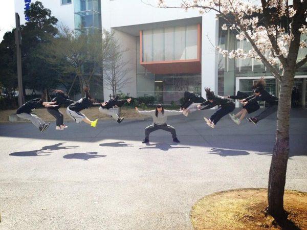 Japanese schoolgirls performing energy wave attacks (makankosappo kamehameha hadouken fireball).
