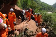sichuan-yaan-earthquake-02-rescue-workers-clearing-landslides