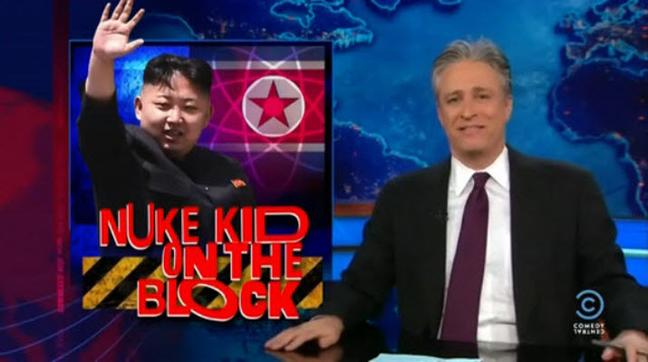 Jon Stewart's The Daily Show, 2013 April 2, North Korea and Kim Jong-un.
