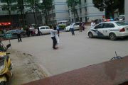 The stalemate between the kidnapper and the police.