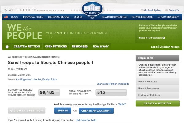 white-house-petition-chinese-liberation