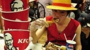 a foodaholic at KFC
