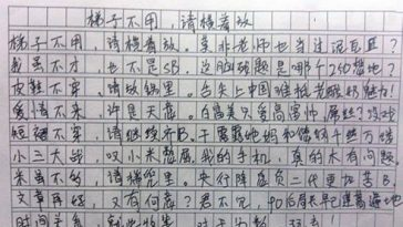 A Chiense Gaokao collect entrance examination essay.