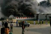 A poulty processing plant in Jilin, China on fire after an explosion that has so far killed 119.