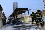Xiamen public bus fire extinguished.