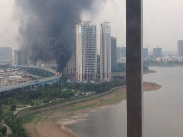 Xiamen public bus fire.