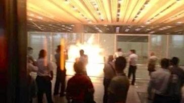 The blast from a homemade explosive detonated by a Chinese man in a wheelchair in the T3 terminal at Beijing Capital International Airport.