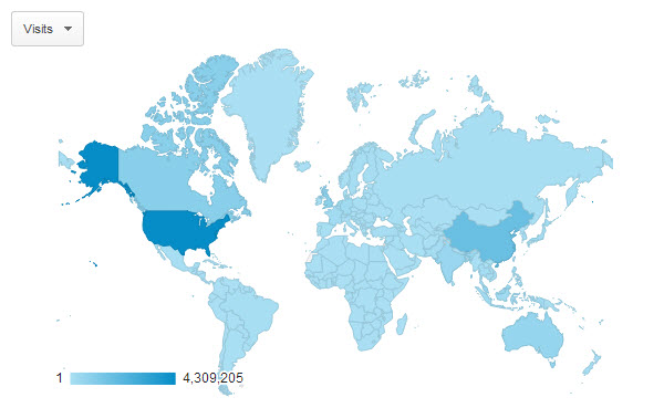google-analytics-2012-2013-july-visits-by-country