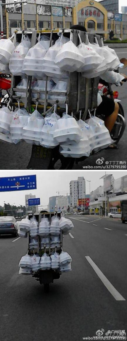 Lunch box delivery guy in Shantou